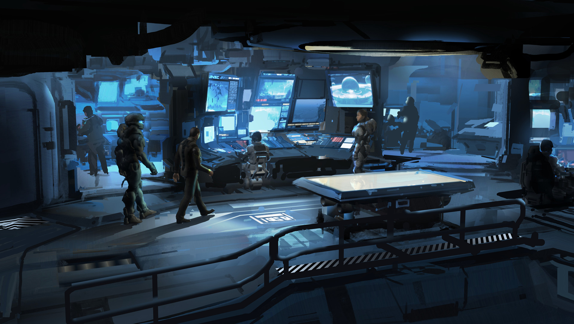 Halo 5 concept art by sparth 18 escape the level for Escape room concept