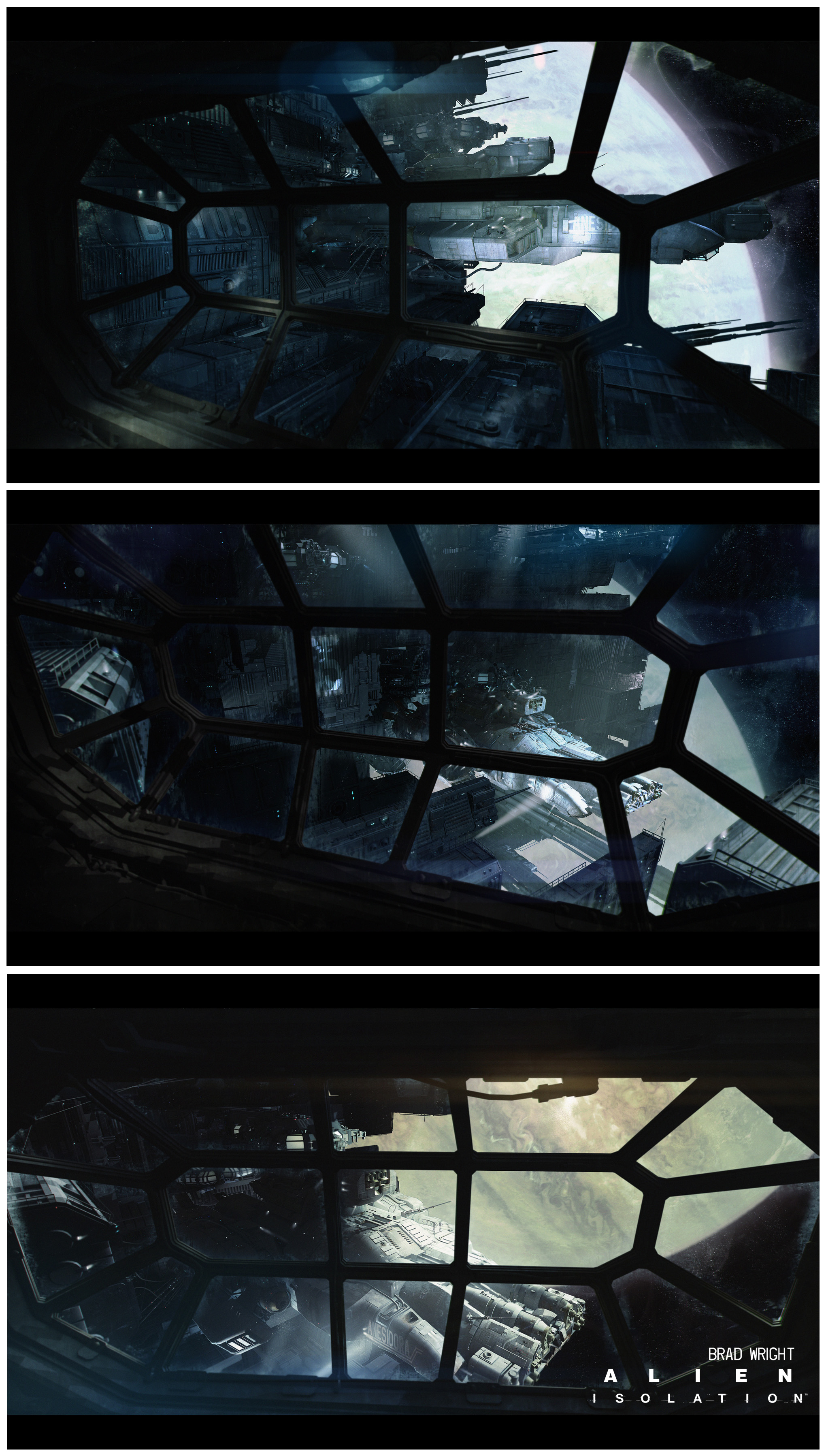alien isolation art by brad wright 41 escape the level. Black Bedroom Furniture Sets. Home Design Ideas