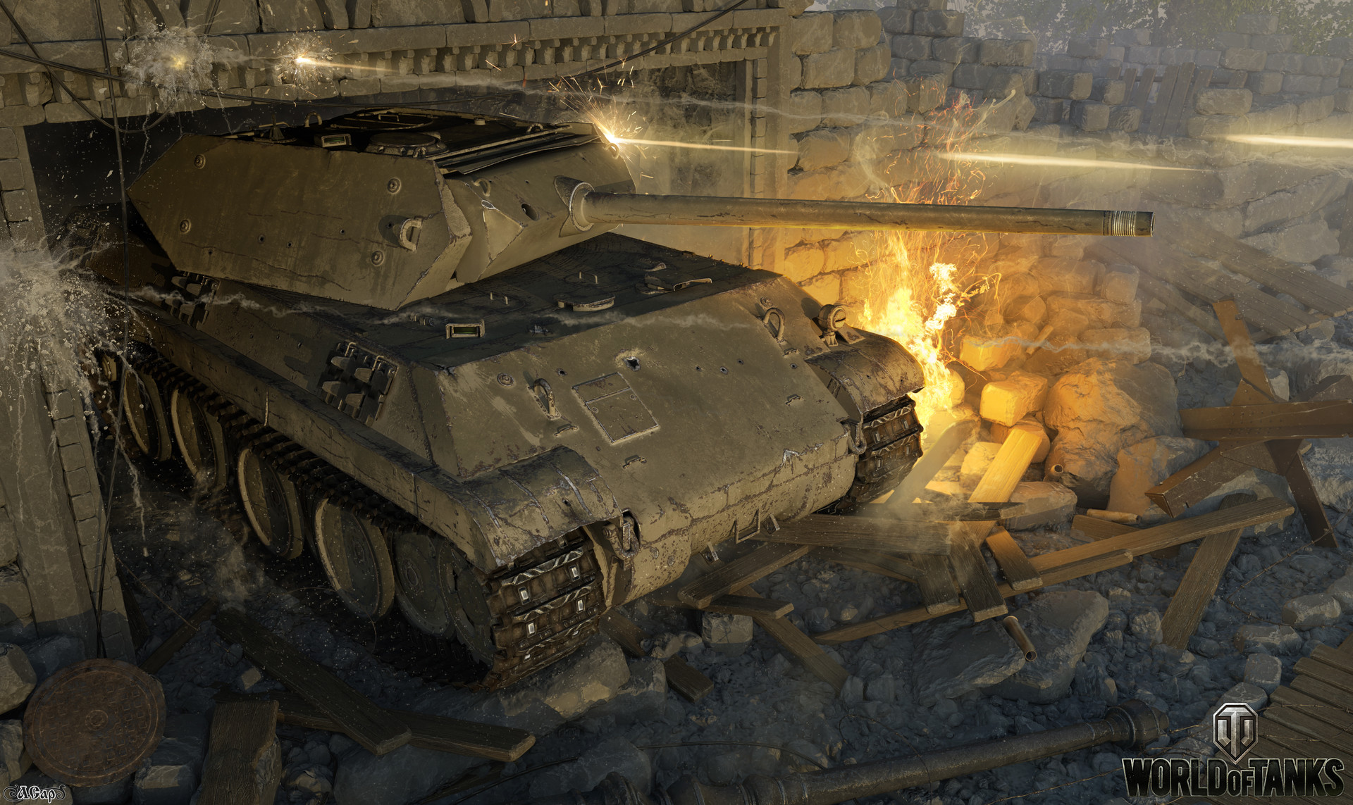 World of Tanks Artwork by Andrey Sarafanov