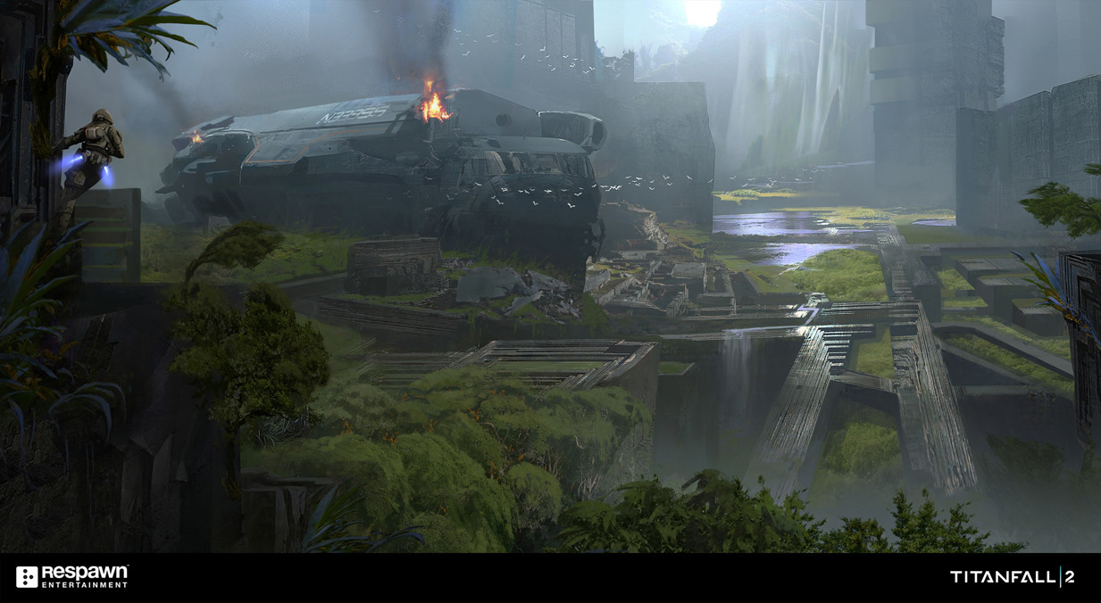 Titanfall 2 Concept Artwork by Jung Park