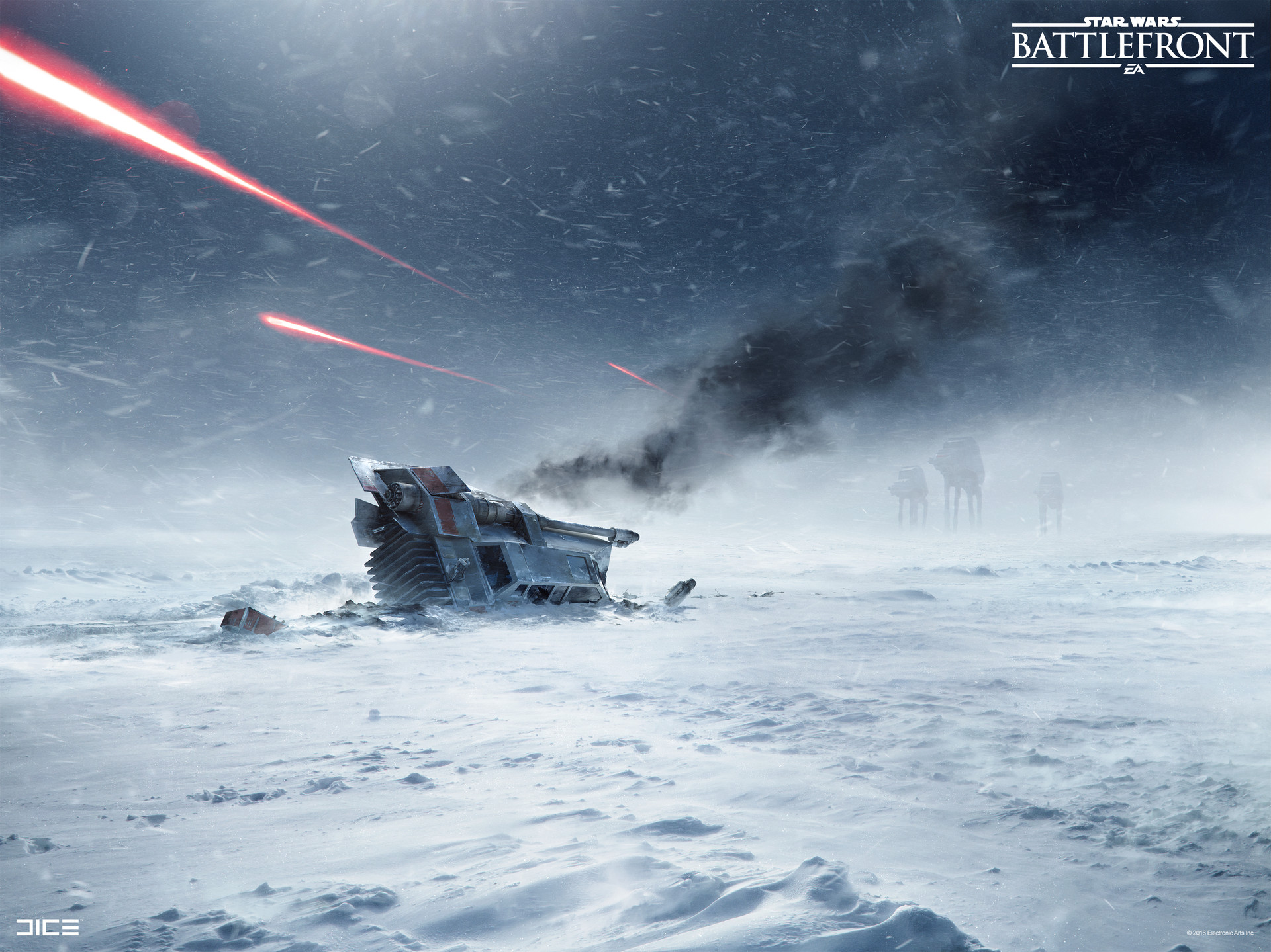 Star Wars Battlefront Concept Art by Anton Grandert