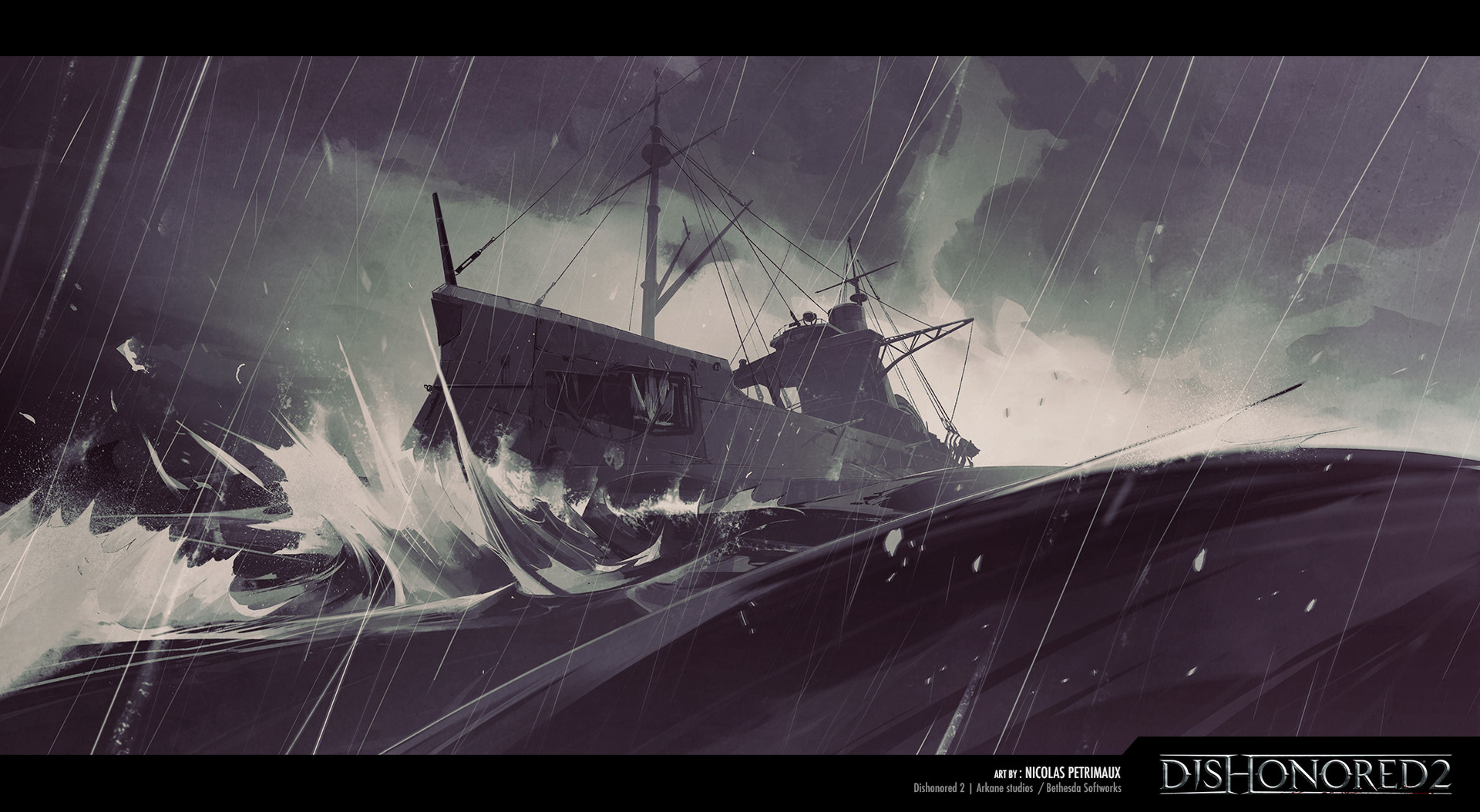 Dishonored 2 Concept Art by Nicolas Petrimaux